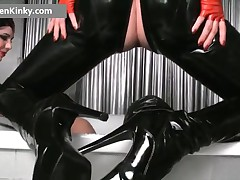 Carmen - Dirty Carmen In Steamy Latex Stuffing Guy Rectum With Vibrator 17 By CarmenKinky