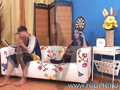Inez Steffan - Rip Her Up - Slim Brunette Gets Clothes Ripped For Anal And Rough Sex