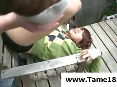 Zoey - Tied Brunette Teen Slave Gets Punished On A Chair