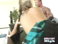 Daryn Darby - Blonde Busty Teen Gets Her Ass Spanked While Getting Rammed From Behind