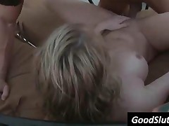 Sexy Blonde Chicks Getting Fucked Hard At The Pool