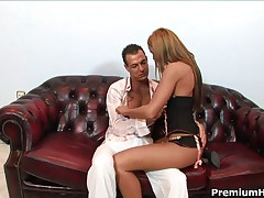 Cristina Bella - Very Hot Looking Bitch Cristina Bella Takes It Up In Her Ass And Gets Creampie