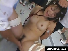 Sweet Asian Coed Gets Pussy Vibrated In The Class