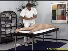 Crazy Old Mom Has Her Pierced Experienced Vagina Fucked By Her Masseur.