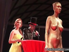 Hot Painted Whore Gets Horny Showing Off Her Great Tits At A Public Sex Show By PublicFuckShows