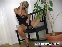 Busty Blonde Gf On The Phone Naked 2 By RealBustyGF