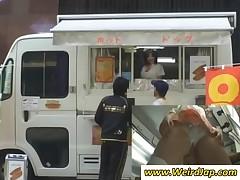 Sinfully Japanese Teenage Bitch Showing Undies Upskirt