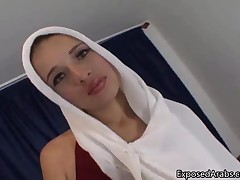 Arab Slut Showing Of Her Fine Natural Tits And Shaved Wet Pussy By ExposedArabs