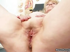 Horny Doctor Abusing A Grandma Her Wet Pussy By MaturePussyExams