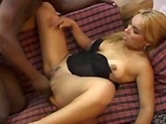 Blonde Chick Interracialy Ass Plowed
