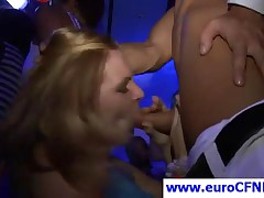 Blonde European Babe Gives Blowjob At A Sex Party