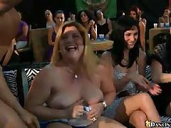 Real BBW & Sexy Party Girls Tug & Suck On Random Cock