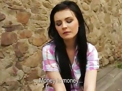 Timea - Shy Brunette Gf Twat Slammed In Historical Place And Gave Her Real Cah As A Payment