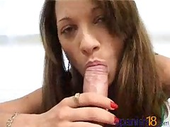 Bianca - Latin Teen Bianca Showing Us How Good She Is Making A Cock Cum