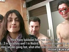 Two Filthy Spanish Whores Getting Ready For A Bukkake Gangbang By FreakyBukkake
