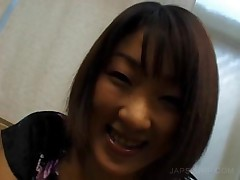 Smilling Asian Teen Sucking Horny Shaft On A Bench