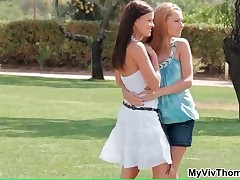 Jo And Zuzana - Babes Jo And Zuzana Having Hot Lesbian Sex On Abeautiful Summer Day By MyVivThomas