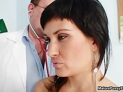 Horny Mom Gets Her Pink Pussy Abused By A Dirty Doctor By MaturePussyExams