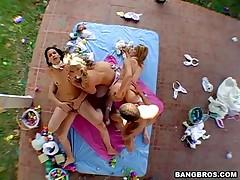 Sarah Vandella And Kira And Raquel - Ass Parade - Easter Bunny Fever