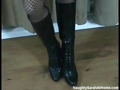 Naughty Sarah - Boots On A Hot Babe