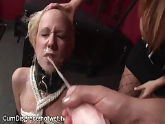 This Young Blonde Slut Loves The Taste And Feel Of Cum, And Enjoys Herself At A Wild BDSM Party