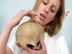 Viktorie - Viktorie Naughty Nurse Pussy Masturbation