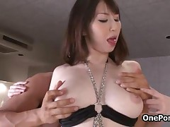 Sexy Japanese Girl With Nice Firm Big Tits Gets Her Tight Pussy Licked By OnePondo