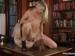 Blonde Grinds Her Wet Pussy All Over Her Brunette Friend Her Face By WhenWomenPlay