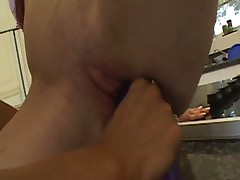 Youthful Carpet muncher Taught Lesson With Fake cock