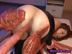 Asami Ogawa - Asami Ogawa Gets Fucked By Huge Crab Like Beast 3 By WeirdJP