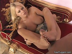 Riley Evans - Sexy Toes On A Hard Cock