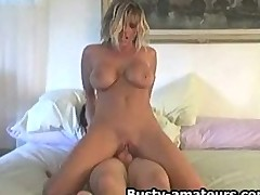 Teras rides on cock and gets jizz