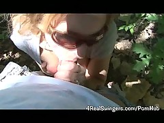 Blowing Some Guy on the Hiking Trail!