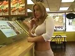 Blonde Flashing In Public
