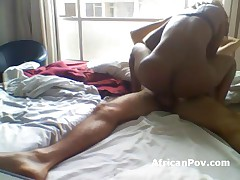 Recorded African Slut Sandy Rides Tourist Dick In Hotel Room