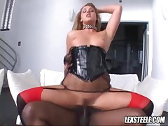 Lauren Phoenix Vs Lexington Steele - A Black Dick Drives Deep Into Her Juicy Cunt