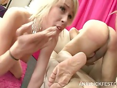 Brittany Angel And Jaelyn Fox - Rimjob And Blowjob Combo