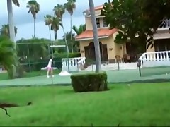 Melody Jordan - Redhead Is Spied On While Playing Tennis But Is In Need Of Company