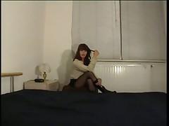Sweet Euro Woman Inserting Vibrator