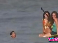 Miley Cyrus - Teen Hottie Miley Crus Enjoys Herself At The Beach In This Video,  Youll See Her Froli