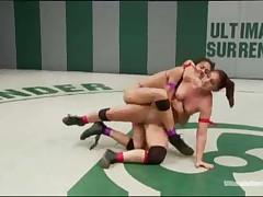 Hotties Left Naked After Wrestling