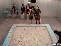 Group Of Horny Euro Girls Getting Dirty And Messy In A Sexy Wam Fight By FullWam