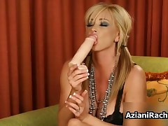 Dirty Whore Goes Crazy Playing With A Dildo On Her Wet Cunt By AzianiRachel