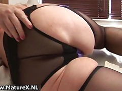 Fat Mature Housewife Is Horny And Plays With Her Wet Pussy By MatureX
