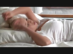 Busty Blonde Babe Masturbating On A Bed By JonesDane