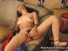 Nude Asian Teen Plays With Huge Dildo On The Couch 8 By RealAsianAmateur
