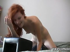 Sexiest Redhead Teen Ever Is Trying The Sybian For The First Time