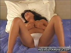 Asian Nympho Wets Her Panties On A Solo In Bed 1 By Realasianamateur