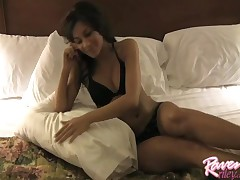 Raven Riley - Hot Latina On Bed