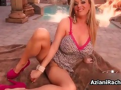 Sexy Blonde Milf With Big Tits And Hot High Heels Toying Her Tight Pussy By AzianiRachel
